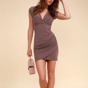 Lulu's Hollywood Ending Mauve Bodycon Dress